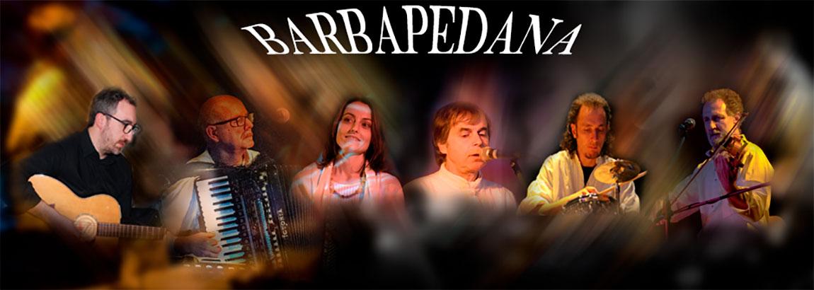 """Il gruppo musicale """"Barbapedana"""" è attivo da molti anni sulla scena musical/teatrale italiana."""